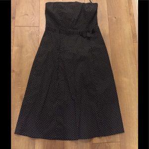Ruby Rox polka dot  cotton strapless dress